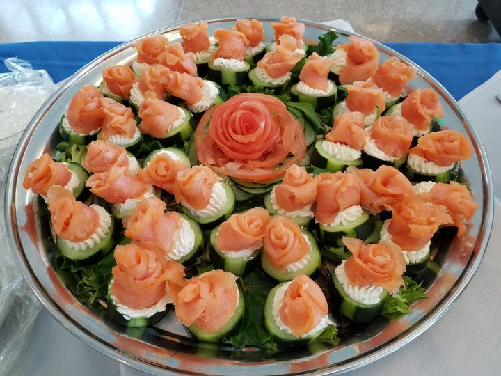 Lox and cucumber