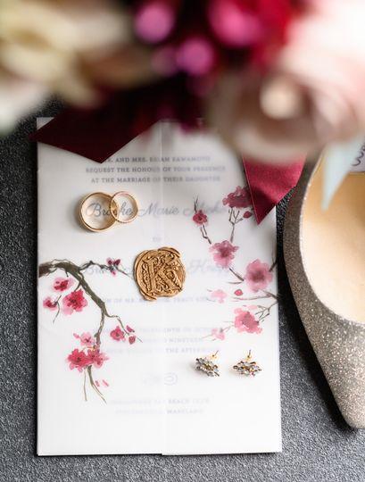 Custom vellum invitations
