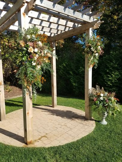 Textural w/pops Ochre Wedding