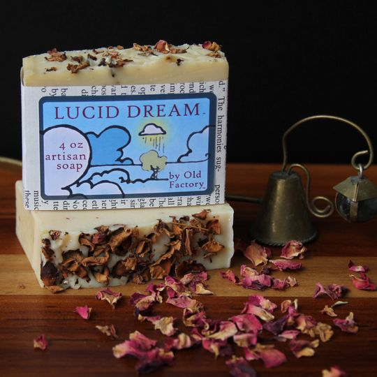 Lucid Dream is an artisan crafted organic olive oil based soap. A romantic blend of Mayan gold,...