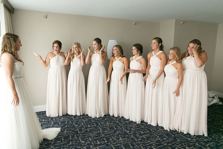Bridal party in the suite