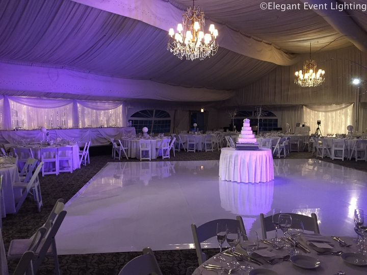 eel chicago hilton oak brook hills white dance floor purple lighting 51 105178