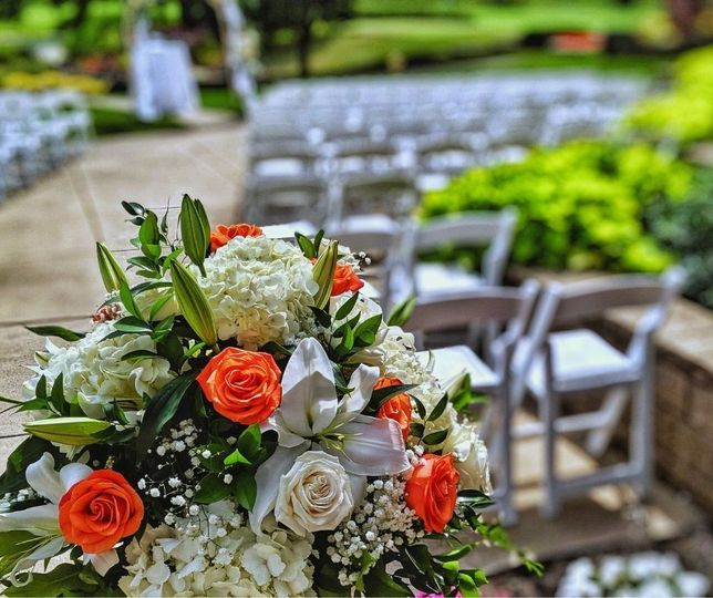 Garden patio outdoor wedding