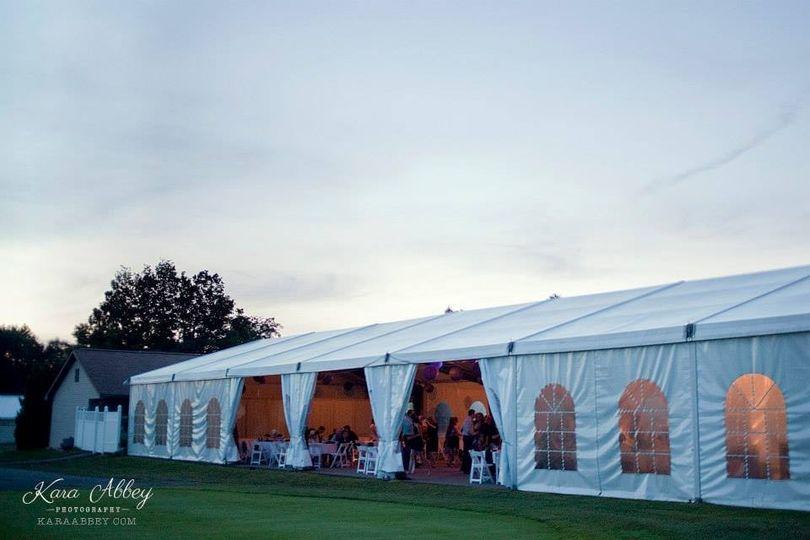 White tents