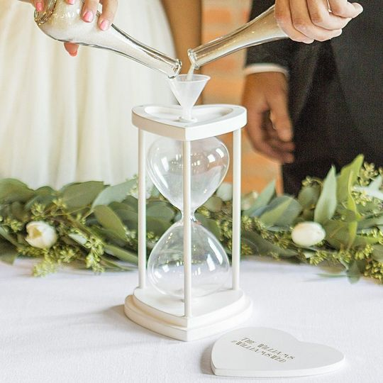 Personalized unity ceremony hourglass