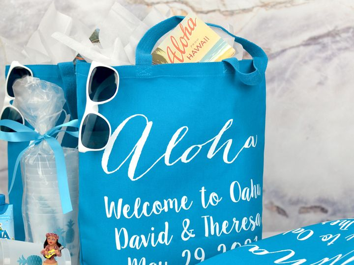 Tmx Caribbean Blue Canvas Bag Aloha Lg 51 6178 Willard, Ohio wedding favor
