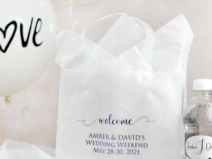 Tmx Clear Frosted 8 X 7 Hotel Gift Bag Lg 51 6178 Willard, Ohio wedding favor