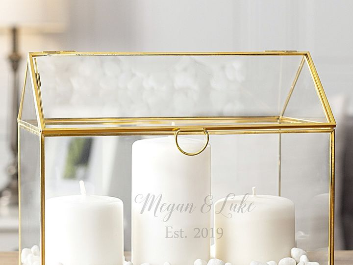 Tmx Gold Trim Glass Terrarium Personalized Centerpiece Candles Lg 51 6178 Willard, Ohio wedding favor