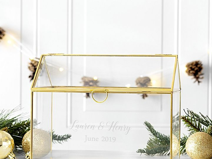 Tmx Gold Trim Glass Terrarium Personalized Gold Decor Lg 51 6178 Willard, Ohio wedding favor
