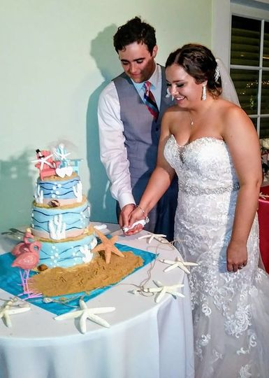 Slicing of cake