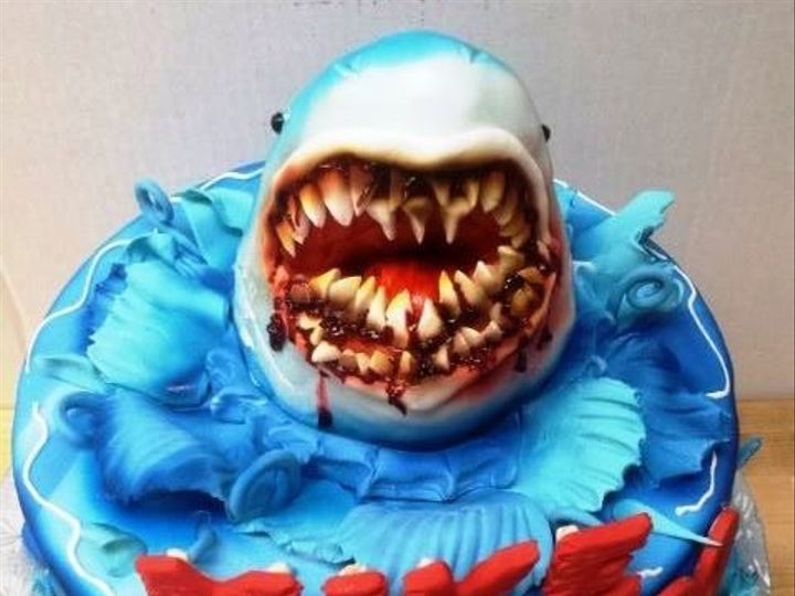 Tmx 1408555537255 Shark Plainview, NY wedding cake