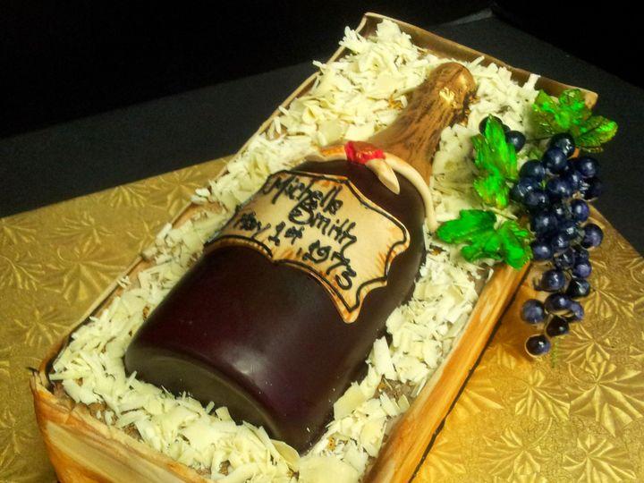 Tmx 1408555548890 Wine Bottle In Create Vinnie Plainview, NY wedding cake
