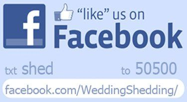 http://www.Facebook.com/WeddingShedding/