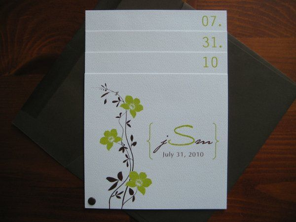 { LYDIA } This modern cymbidium orchid layered invitation consists of four layers. The front page...