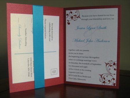 { ELLA } This sophisticated foldover wedding invitation is CUSTOMIZABLE to your wedding colors and...