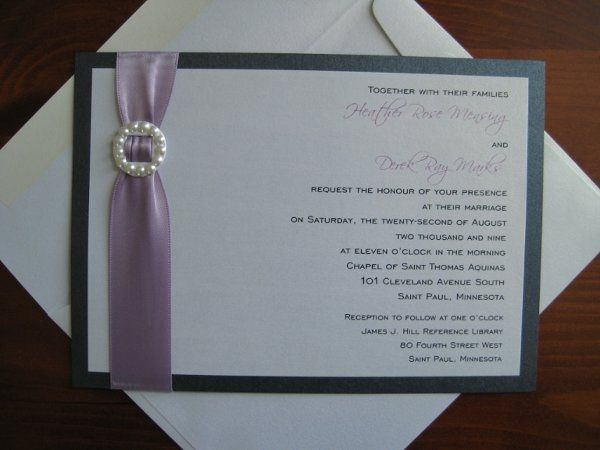 { CARRIE } This elegant layered wedding invitation is CUSTOMIZABLE to your wedding colors and style!...