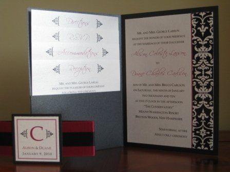 { RACHEL } This pocket fold wedding invitation is CUSTOMIZABLE to your wedding colors and style!...