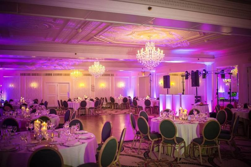 Reception area Molly  pitcher Inn Wedding