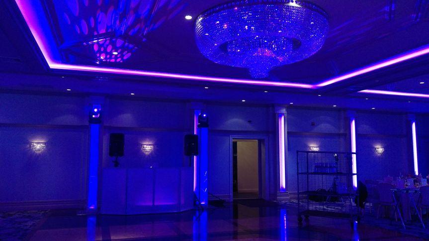 Wedding DJ with moving head lighting