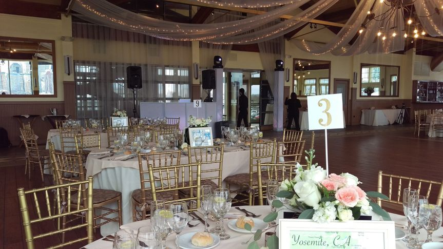 Table setup with centerpiece Liberty House Jersey City