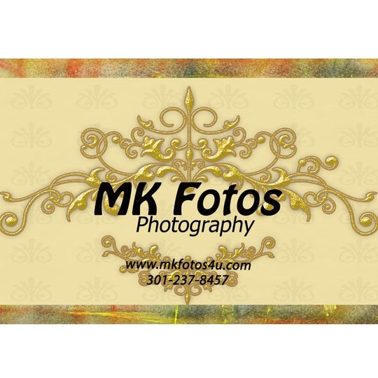 mkfotos gold logo with background