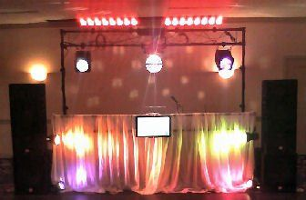 Colorful wedding setups