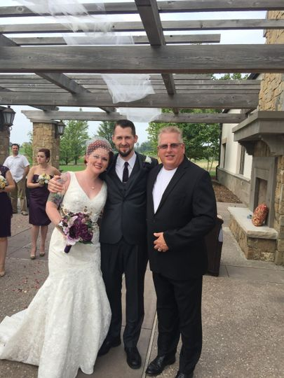 Photo with the officiant
