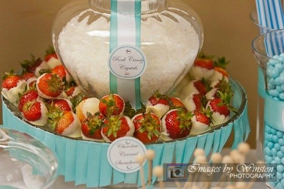 candy and strawberries