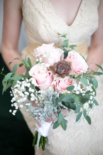 Bridal bouquet succulents