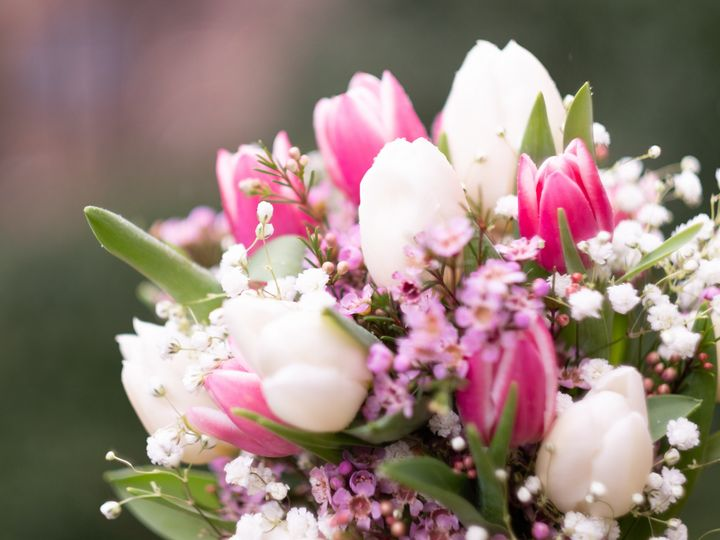 Tmx Side Shot Pink White Tulips 51 997278 Knoxville, TN wedding florist