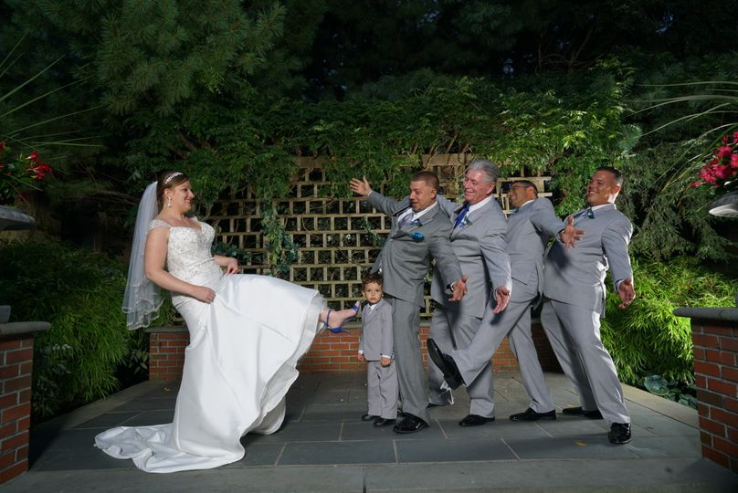 Fun wedding photo