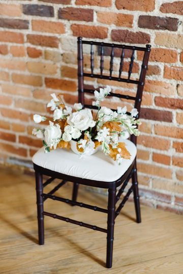 Flowers on the chair | Kelsey Nelson Photography