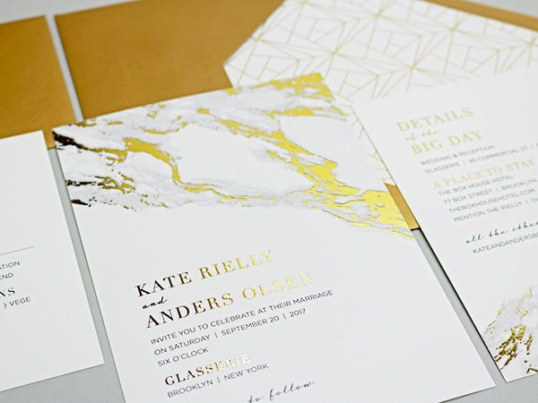 Gold Foil and marble