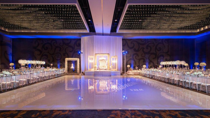 A glossy dance floor