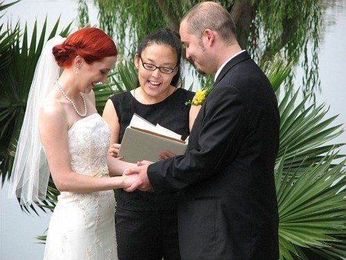 San Juan Capistrano wedding officiator / Celebrant / secular minister at Rancho Capistrano.  Photo...
