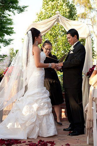 San Gabriel Valley wedding officiant and secular minister: Luminarias Restaurant.  Photo by Frank...