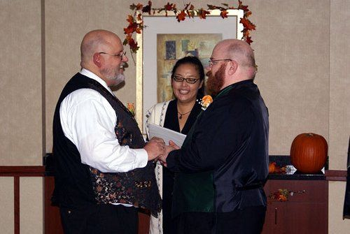 LGBT wedding officiant at South Orange County hotel.