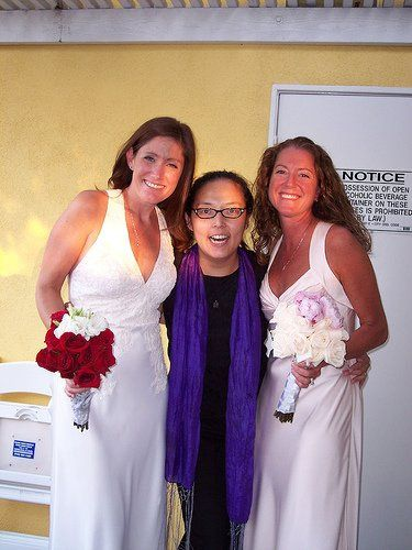 Officiant / certified Life-Cycle Celebrant® for LGBT home wedding.