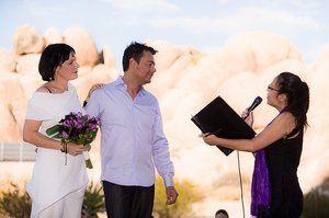 Wedding Ceremony in Joshua Tree National Park, CA.