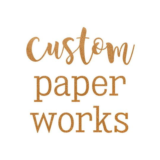 13829ef8b41938e0 CustomPaperWorks Destination Wedding Invitations logo