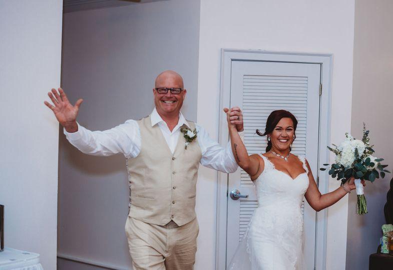 Newlyweds enter