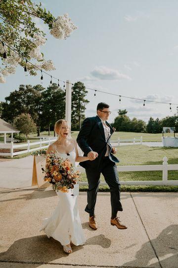Entering the reception