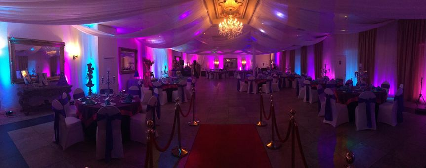 Enhance your event with professional room uplighting. We offer beautiful accent lighting for any...