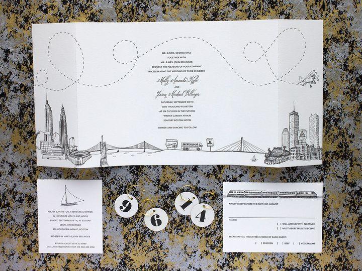 Tmx 1490894889790 Boston Nyc Spread Jamaica Plain wedding invitation