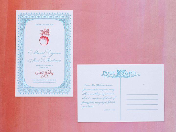 Tmx 1490895014790 Savedate Bookplate3 Jamaica Plain wedding invitation
