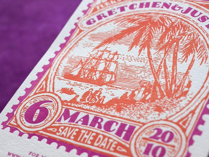 Tmx 1490895056400 Savedate Stamp6 Jamaica Plain wedding invitation