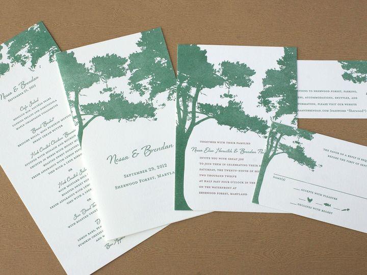 Tmx 1490895106147 Treesilhouette Spread2 Jamaica Plain wedding invitation