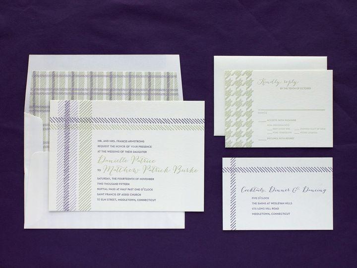 Tmx 1490895213851 Plaid Green Spread Jamaica Plain wedding invitation