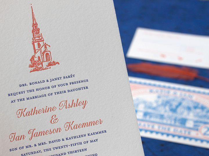Tmx 1490895254053 Oldnorth Detail Jamaica Plain wedding invitation