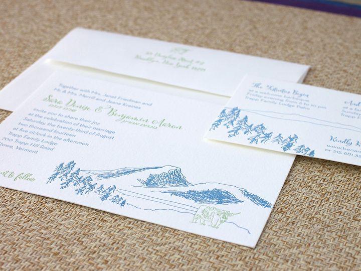 Tmx 1490895295977 Mountaincow Spread Jamaica Plain wedding invitation